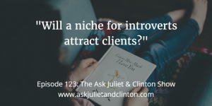 Episode 123: Will a niche for introverts attract clients? thumbnail