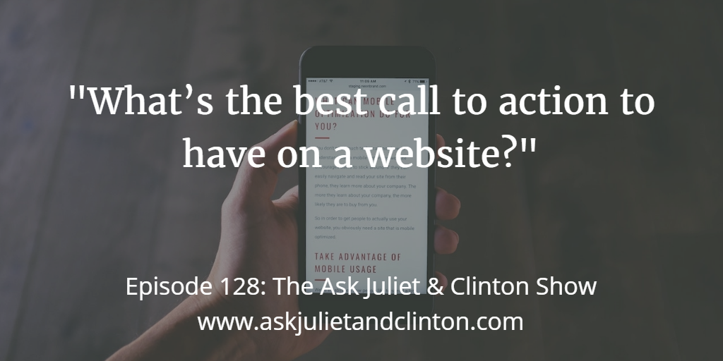 best call to action for website
